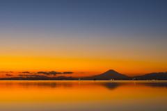 江川海岸からの夕焼け-1