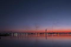 江川海岸からの夕焼け-3