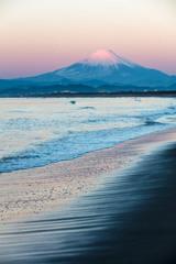 富士三昧610 初日の出と紅富士