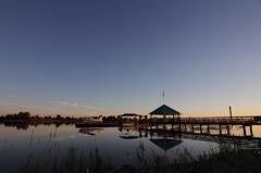 Seaplane at dusk