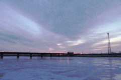 日高線の朝 2