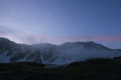 立山の夜明け 3