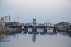 可動橋の朝