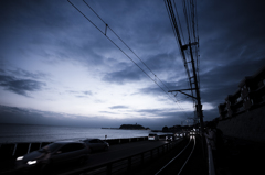 late fall sunset enoshima