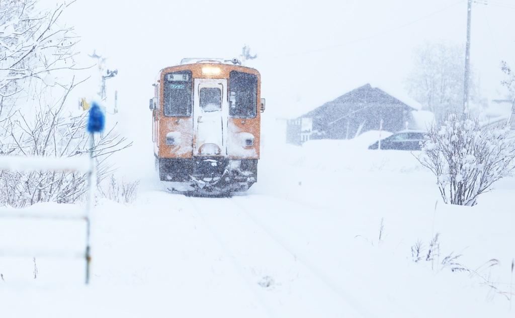 大雪の日 ~秋田内陸線~