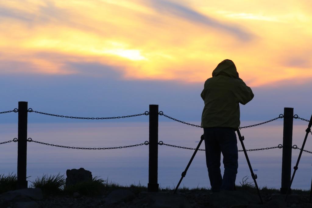 夕陽カメラマン