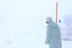 待ち時間 ~雪国のひと~