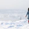 流氷と少女