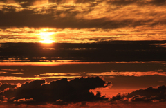晩夏~鳥海山から見る夕陽~