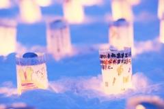千の雪灯り ~みずいろに光る夢~