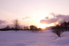 雪原を優しく照らして