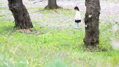桜の木の下で♪