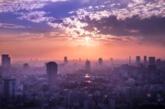 夕もやの東京