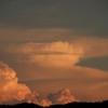 夕陽に染まる東空の雲 2