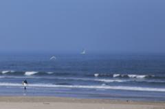 海の風を受けて