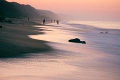 ピンクの浜