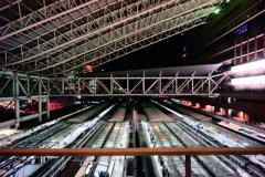 大阪駅は夜