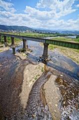 川と鉄道橋