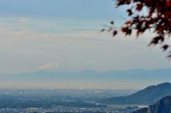 栃木県大平山から眺めた富士山