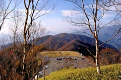 半月山より足尾山地を眺めて