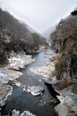 龍王峡冬景色