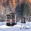 氷点下8度 山間の駅
