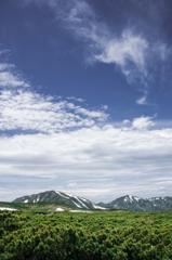 雪倉岳と朝日岳の空