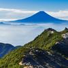 富士の見える稜線