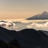 山頂から富士山