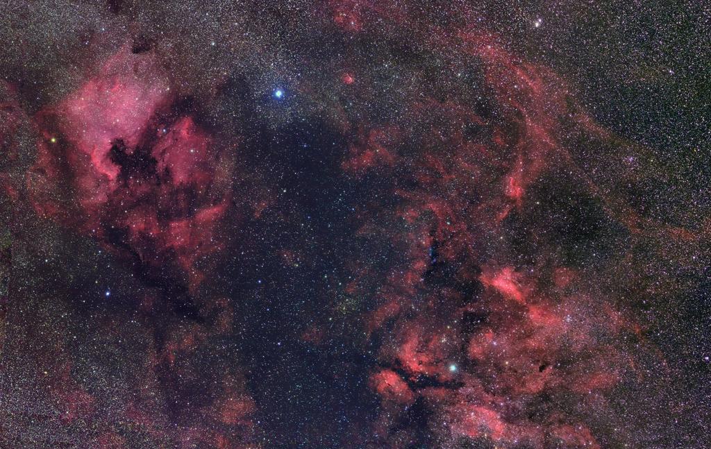 北アメリカ星雲~サドル付近