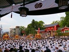 京都 八坂神社 神輿渡御出発式