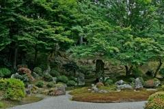 京都 曼殊院 枯山水庭園
