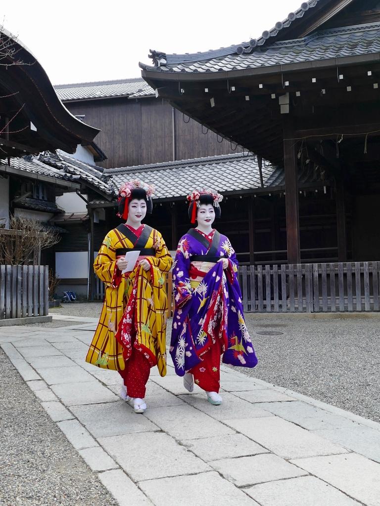 京都 節分祭 祇園甲部による豆撒き III