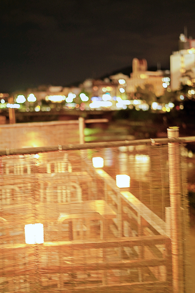 京都 十月の川床