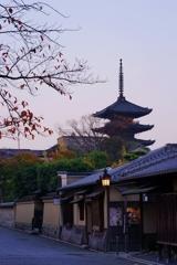 京都 ねねの道 秋景色