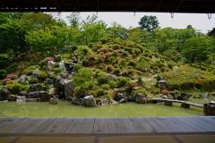 京都 智積院 静かな庭園