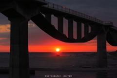 潮騒橋のシルエット