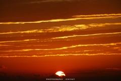 秋色の夕陽