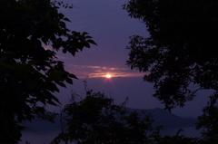 大串半島からの夕日
