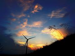 風車のある夕景 - IMGP0887