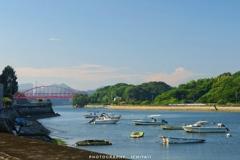 赤い向島大橋
