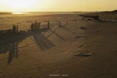 砂丘の影が伸びる時間