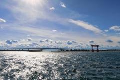 浜名大橋へ吹き抜ける