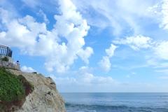 真夏の雲と、海とキミ。