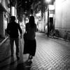 二人、夜の街