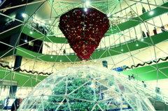 東京ドームのイルミネーション2015 いちごっぽいオブジェクト
