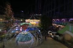 東京ドームのイルミネーション2015 メリーゴーランド