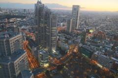 都庁展望台からの夕景