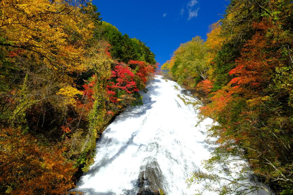 秋めく湯滝