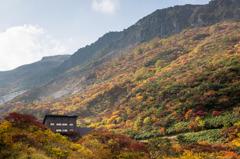 山小屋のある風景 2014秋